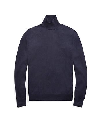 Suéter con cuello vuelto de cachemira