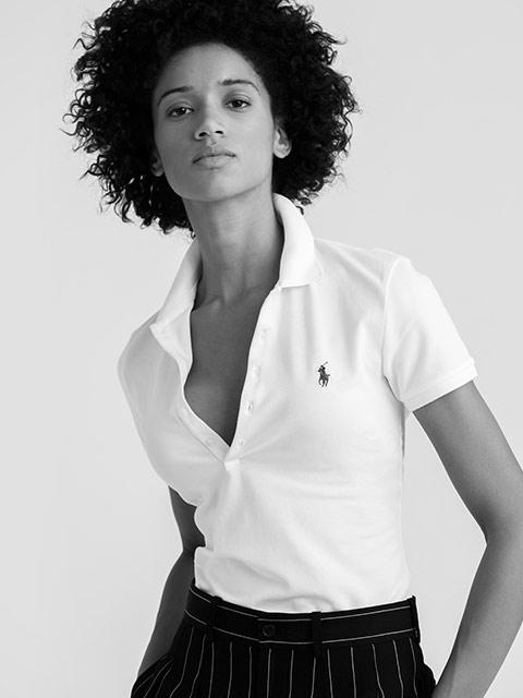 Man modeling Slim Fit Polo shirt
