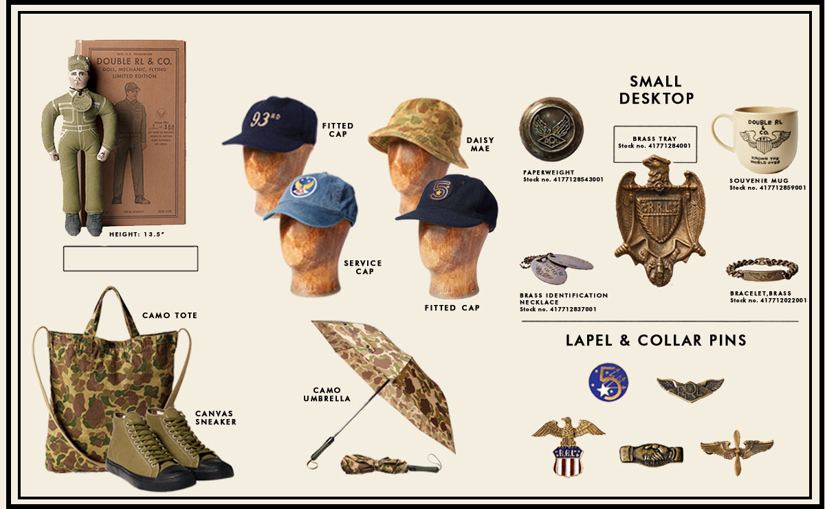 Military-inspired Double RL accessories