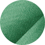 Swatch of green stretch mesh fabric