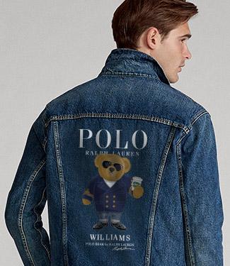 Animation of man in customized Denim Jacket