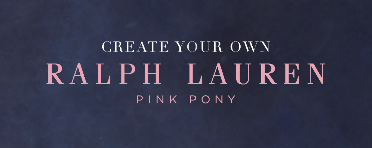 Video highlighting Pink Pony customizable Ralph Lauren apparel
