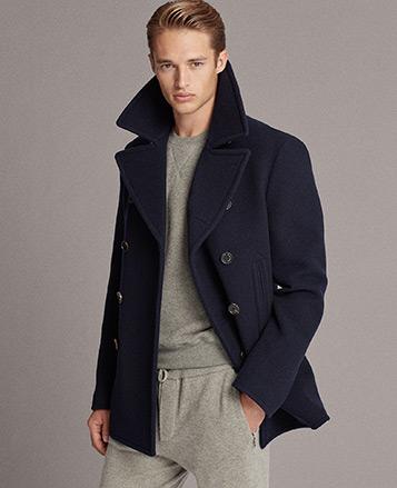 Chaquetón de lana y cachemira