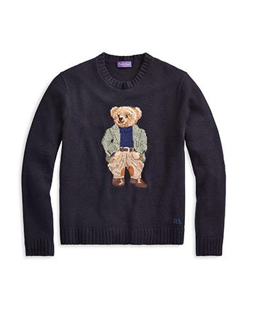 Jersey de cachemira con Polo Bear
