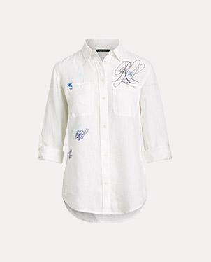 Print Linen Shirt
